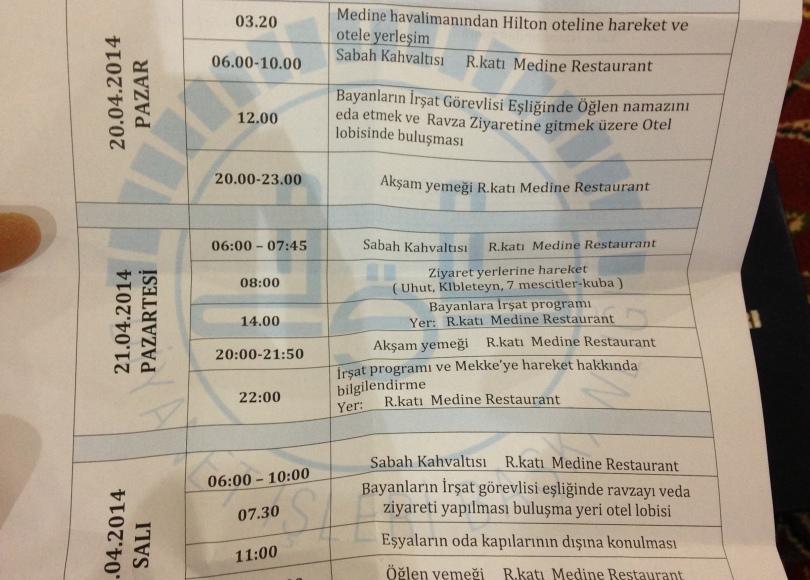 Diyanet Medine Umre Programı